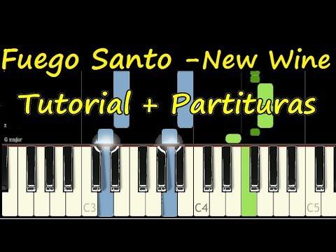 FUEGO SANTO New Wine Piano Tutorial Cover Facil + Partitura PDF Sheet Music Easy Midi thumbnail