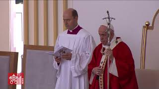 14 september 2021 P๐pe Francis - Prešov-Byzantine Divine Liturgy in Bratislava