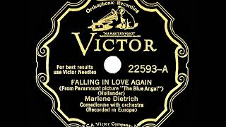 1930 HITS ARCHIVE: Falling In Love Again (Can't Help It) - Marlene Dietrich