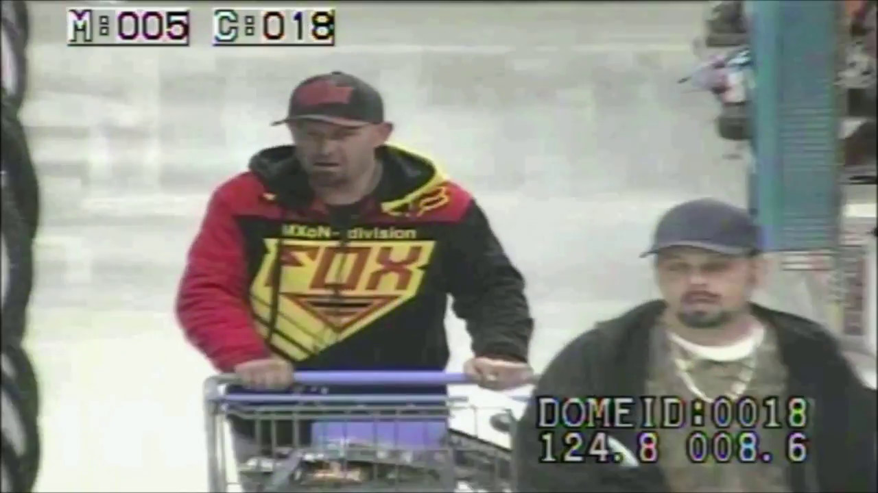 police released cctv of two men accused of shoplifting from local walmart in okc