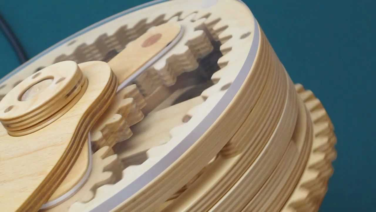 Wood Gear Planetary Drive - YouTube