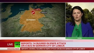 'It was carnage': 14 Injured in bus knife attack in German city of Luebeck