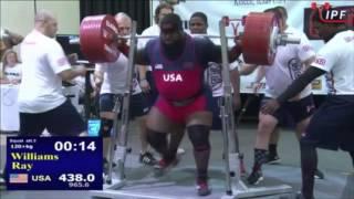 Ray Williams, 965 lb IPF Raw World Record Squat, June 26, 2016