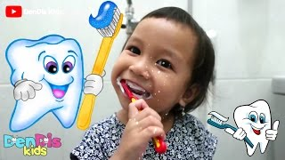 Anak 3 tahun Belajar Gosok Gigi Sendiri - Brush Your Teeth for Kids | DenDis Kids
