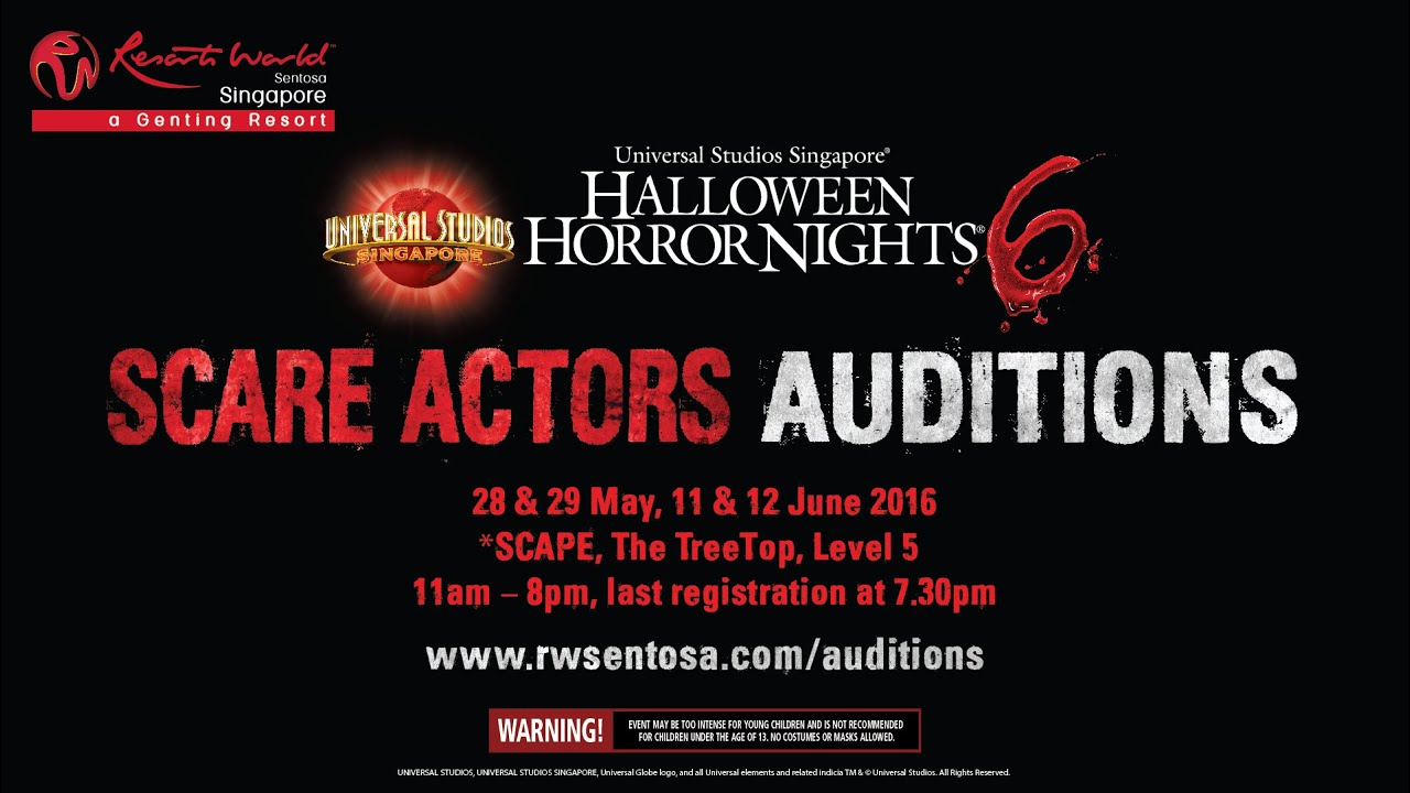 Halloween Horror Nights 6 Scare Actors Auditions