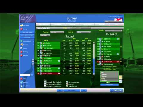 Cricket Coach - detailed simulation of world cricket for PC/Mac