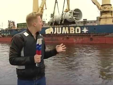 Выгрузка реактора 1377,9 тонны в порту Санкт-Петербурга