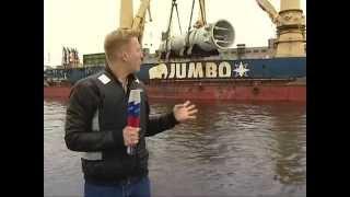 Выгрузка реактора 1377,9 тонны в порту Санкт-Петербурга(Рекордно тяжелый груз. Установлен рекорд России и Европы: