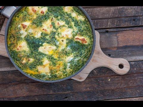 Easy Spinach & Feta Frittata