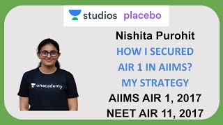 How I secured AIR 1 in AIIMS? - My Strategy | Nishita Purohit AIIMS AIR - 1 | NEET  AIR - 11