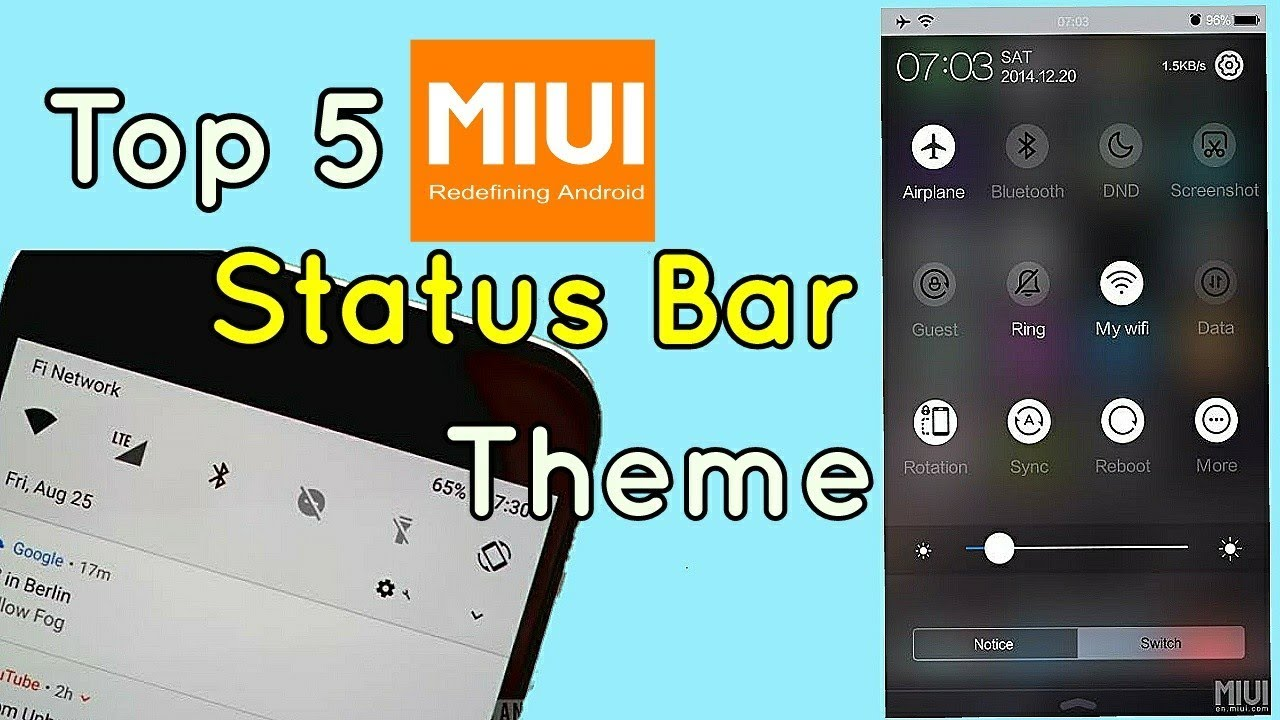 Top 5 New Status Bar MIUI Themes Its Available On Mi Theme Store