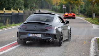 RENNtech Mercedes C63 S AMG Coupe - LOUD Revs & Accelerations !