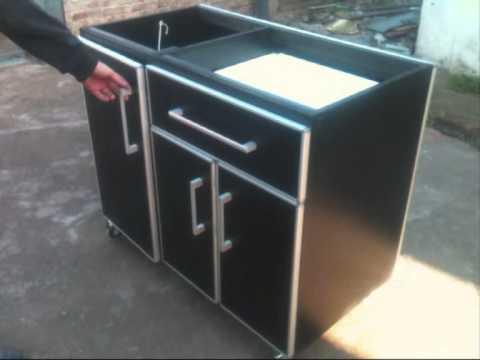 Prado muebles isla movil youtube for Muebles de cocina moviles