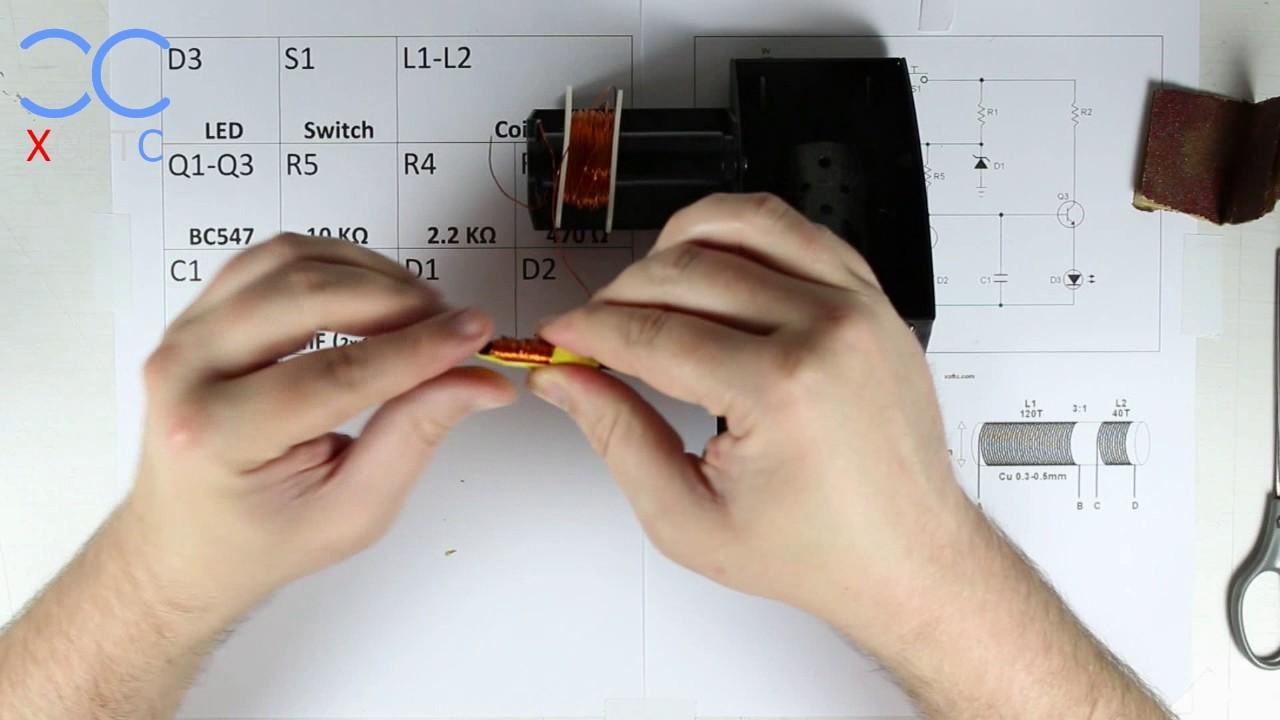 Xcbv Basic Metal Detecting Circuit Part 1 Make The Coil Youtube Detector Diagram