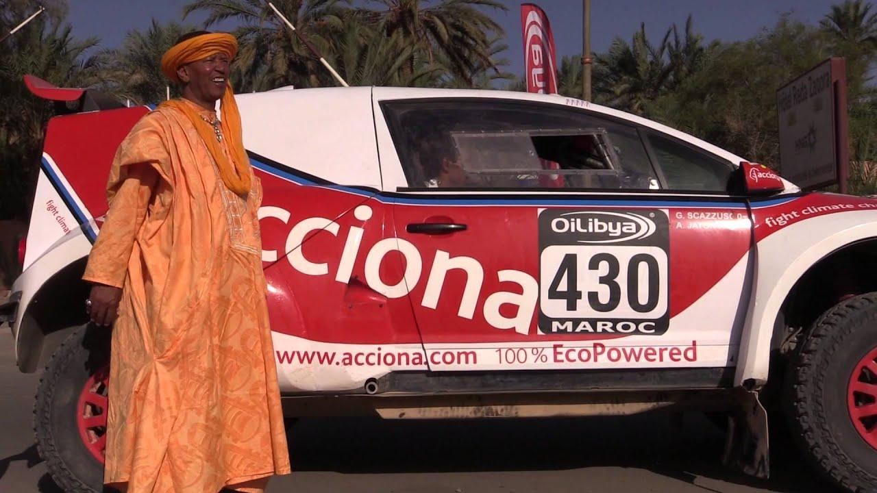 El coche ACCIONA 100% EcoPowered en el Rally OiLibya Marruecos