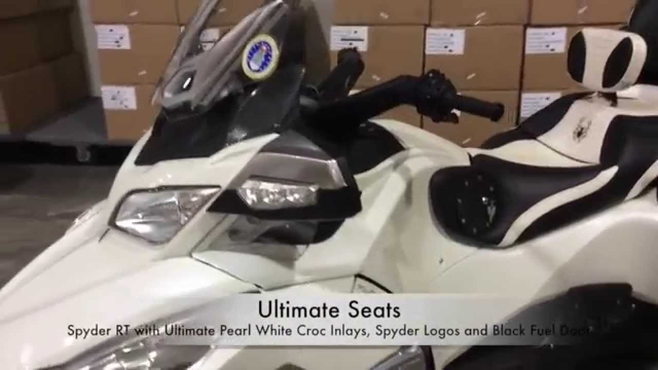 Ultimate seats spyder rt with ultimate pearl white croc inlays