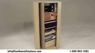 Rotating Dual Sided Office Storage Cabinets Spinning Shelving Rack