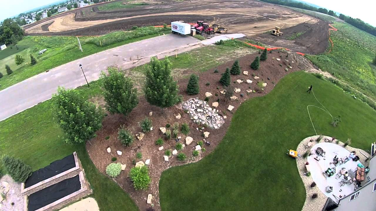 Landscape finished berm youtube for Creating a landscape