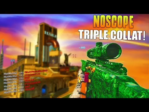 NOSCOPE TRIPLE COLLAT! (Most Broken Thing Ever In Call Of Duty) New IW Aimbot Sniper! - MatMicMar