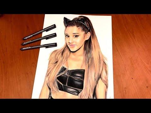 Ariana Grande Artwork with Prismacolors!