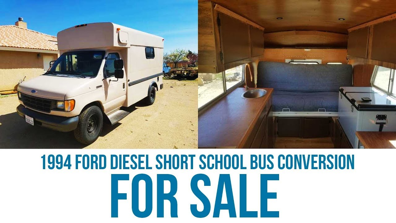 94 Ford 7 3l Diesel Short Bus Conversion For Sale - Brock Hale