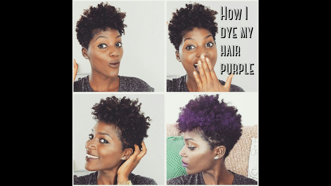 Natural Hair How To Dye Your Purple Without Bleaching