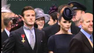 Royal Wedding 29/4/11 - The Beckhams arrive at Westminster Abbey