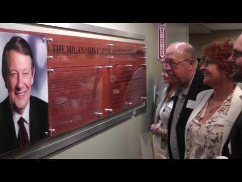 """Mon Health ICU named in honor of Milan """"Mike"""" Puskar 6-14-17"""