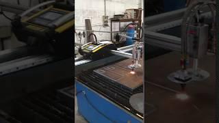 Консольный станок плазменной резки с ЧПУ Intecut 5. Резка газом 30 мм сталь