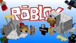 Mii channel music but with roblox death sound over a bunch of chickens running to their death