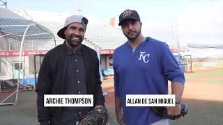 "Archie Thompson Learns Baseball | Part 1, ""Catching"" w/ Allan de san Miguel"