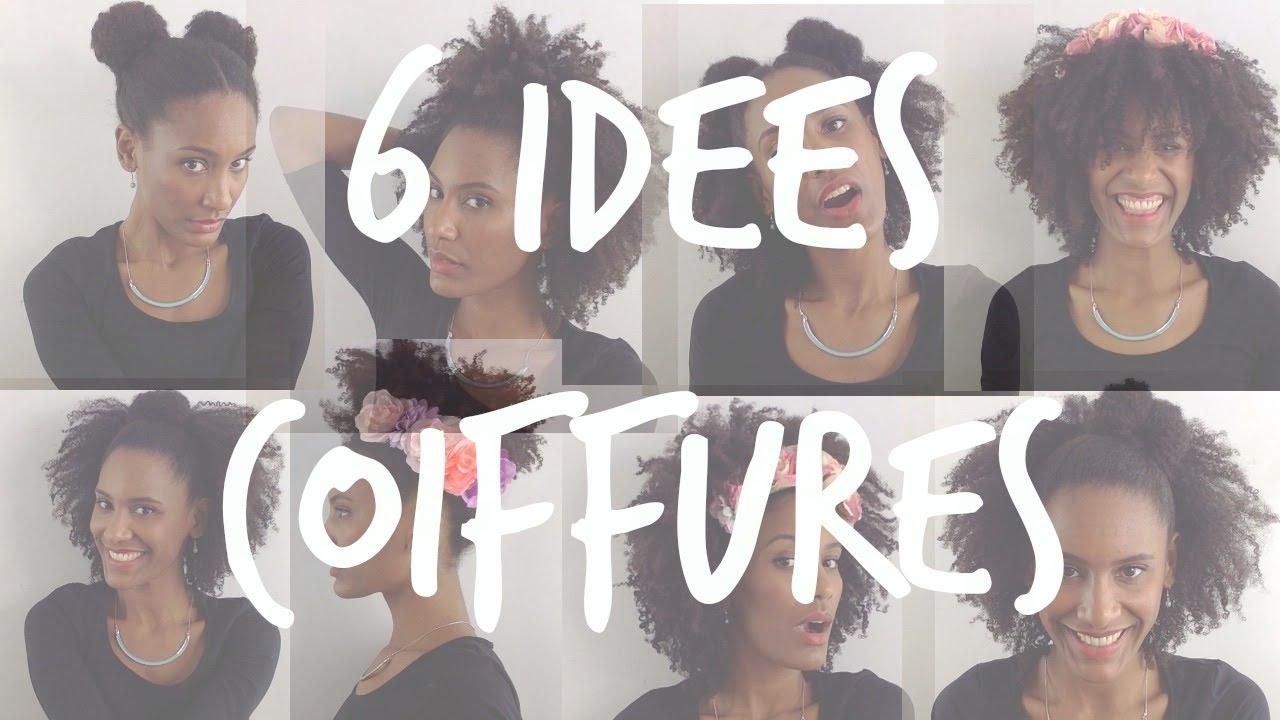 6 Coiffures Sur Cheveux Afro Crépus Naturels