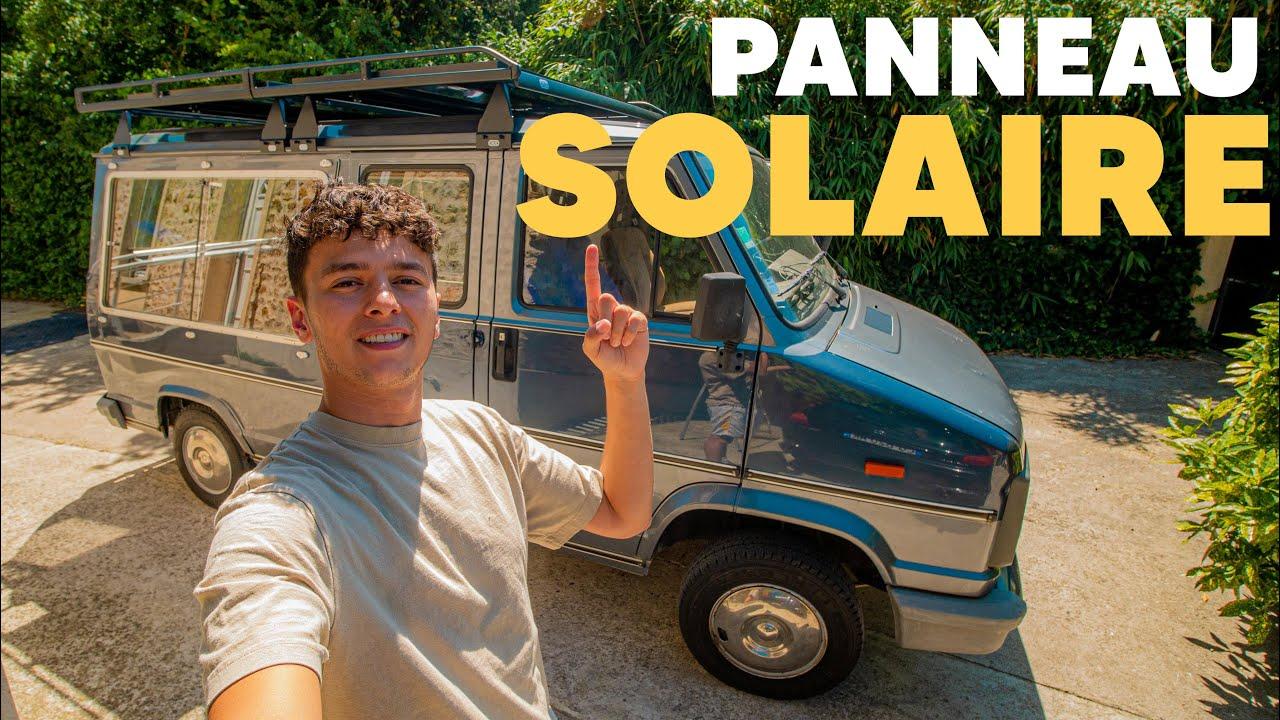 On continue de transformer un CORBILLARD en VAN : LES PANNEAUX SOLAIRES