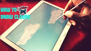Drawing Tutorial. How to draw clouds in Artflow. Draw with me!!! :D