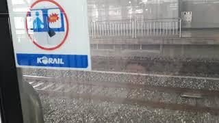코레일 8574호 시멘트 화물열차 용산역 통과