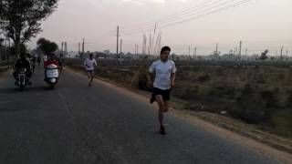 Running Time note in 1km