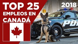 Las 25 MEJORES profesiones en CANADÁ - 2018