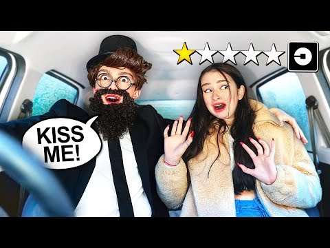 PICKING UP my CRUSH in UBER under DISGUISE! (no idea)