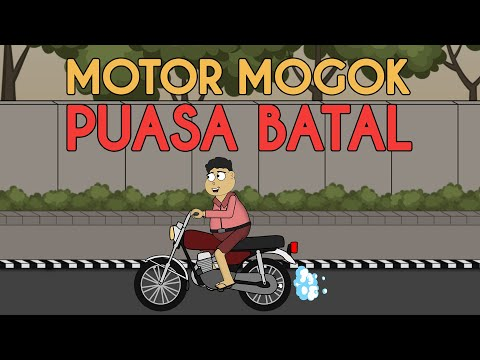 Puasa Batal Karena Motor Mogok   Animasi Kocak Kartun Lucu   Warganet Life