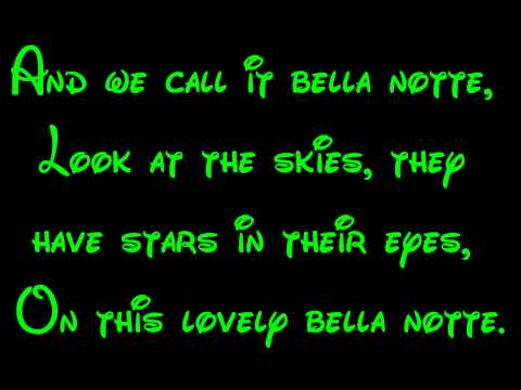 Bella Notte - Lady And The Tramp Lyrics HD