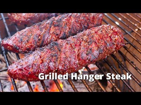 Grilled Hanger Steaks   Recipe for Grilling Hanger Steaks on Grilla Kong