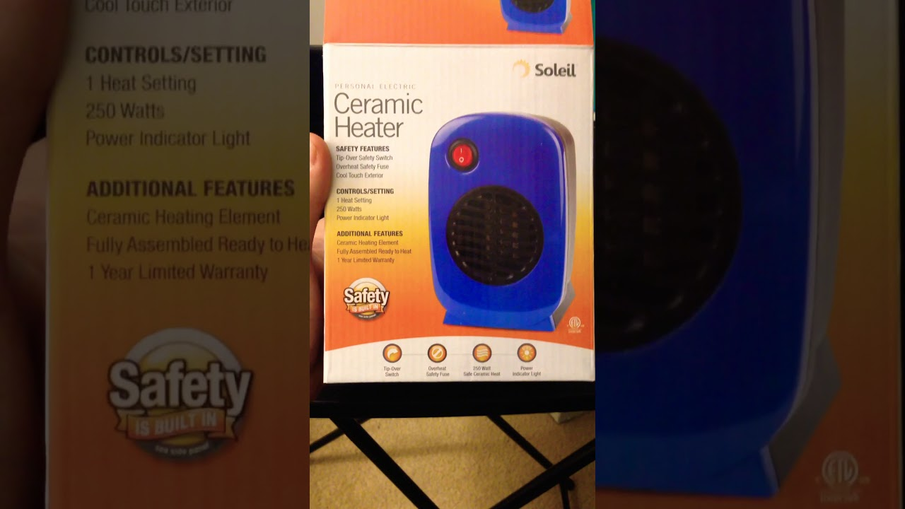 Soleil Ceramic Heater Quick Review Not Affiliated Youtube