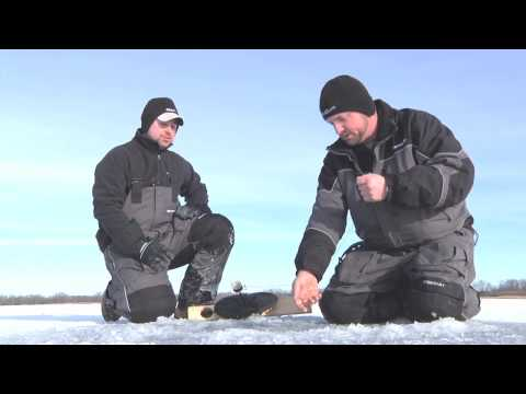 Upper Red Lake Tip Ups &  46 Inch Northern Pike