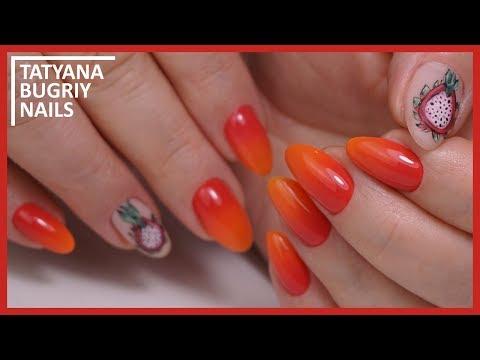 Летние яркие ногти