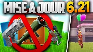 MISE A JOUR 6.21 PLUSIEURS ARMES SUPPRIME & EVENT CE WEEK-END ! (Fortnite Patch Note 6.20)