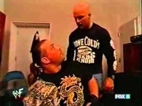 Stone Cold Steve Austin interrogates Rob Van Dam