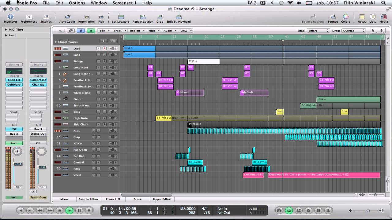 Deadmau5 The Veldt in Logic Pro 9 (Free Project Download)