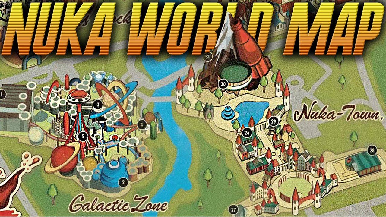 Fallout 4 New Nuka World Dlc Map Revealed Nuka World Map New