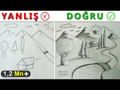 Resim Çizerken Sıkça Yapılan Hatalar Nelerdir? Manzara Çizimi Yanlışları - Picture drawing mistakes
