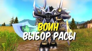 Выбор расы для воина в World of Warcraft Classic